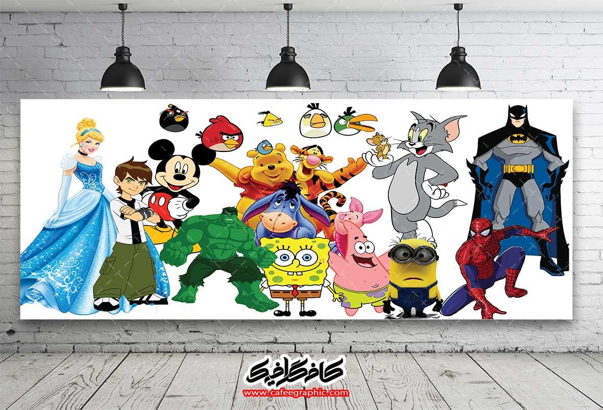 طرح شخصیت های کارتونی و کودکانه