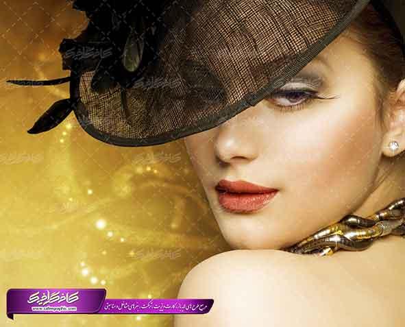 """<span itemprop=""""name"""">تصویر استوک زن با کلاه مخصوص آرایشگاه زنانه</span>"""