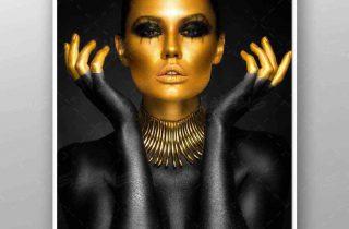 تصویر استوک زن طلایی