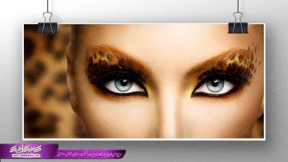 تصویر بانوی چشم پروانه ای ،تصویر استوک بانوی صورت پروانه ای ،تصویر با کیفیت زن با چشمان پروانه، تصویر آرایشگاه زنانه بانوی زیبای چشم پروانه ای