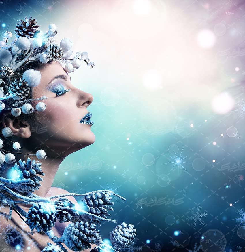 تصویر با کیفیت بانوی یخی ویژه آرایشگاه زنانه