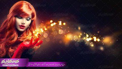 پوستر با کیفیت بانو موی قرمز